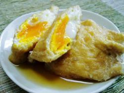 かんたん♪油揚げの卵入り袋煮