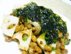 納豆&レンコン炒め